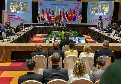 US Secretary of State Michael R. Pompeo speaks at the ASEAN-US Ministerial Meeting, 3 August 2018, Singapore. [State Department Photo / Public Domain]