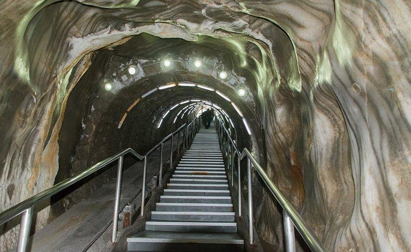 Turda salt mine in Romania.