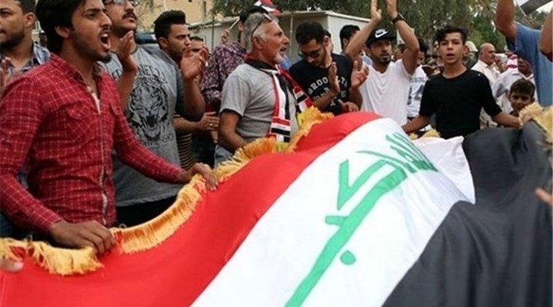 Protestors in Iraq. Photo Credit: Tasnim News Agency.