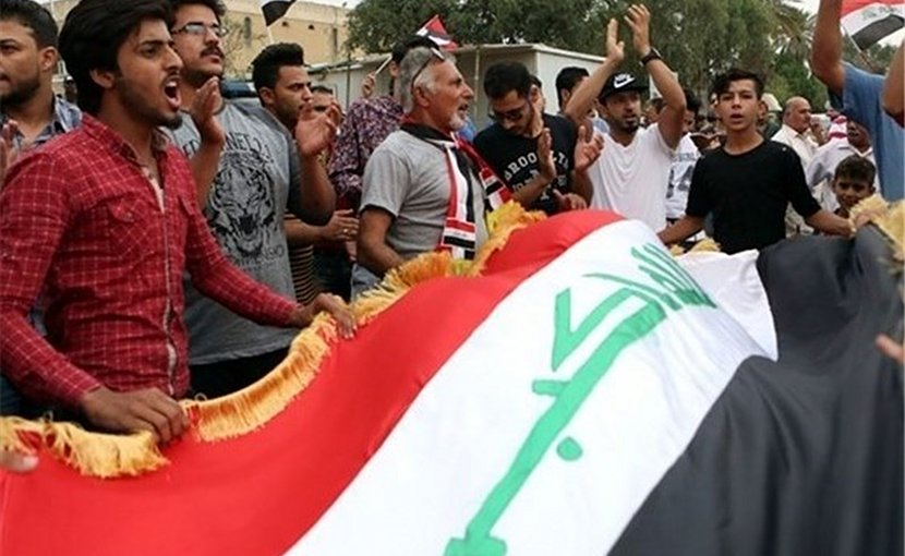 Protestors in Iraq. Photo Credit: Tasnim News Agency.