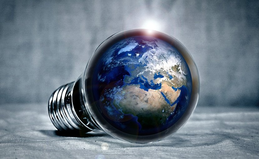 light bulb electricity earth