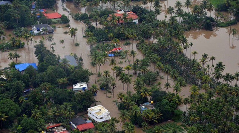 Flooding in Kerala. Photo Credit: Indian Navy