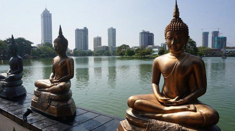 Buddha statues in Colombo, Sri Lanka.