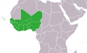 Location of the Economic Community of West African States (ECOWAS). Credit: Wikipedia Commons.