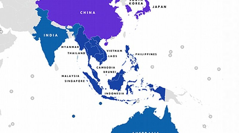 Members of Regional Comprehensive Economic Partnership (RCEP). Credit: Wikipedia Commons.