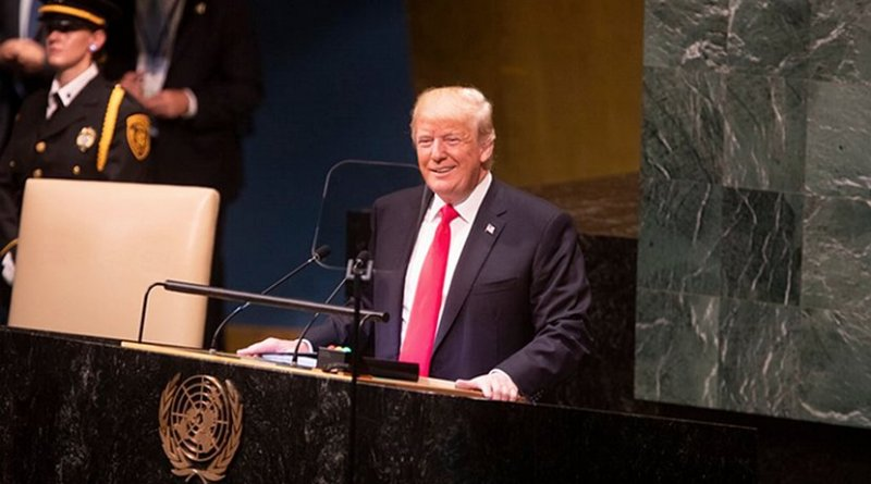 US President Donald Trump to the 73rd Session of the United Nations General Assembly. Photo Credit: White House