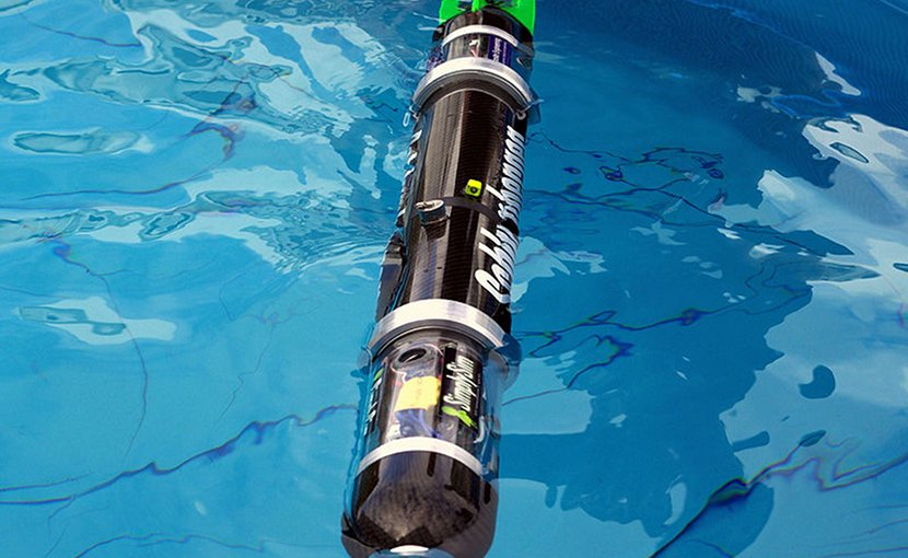 Blackghost AUV (drone). Photo Credit: Paul Esparon, Sunil Shah, Dr Timothy Nickels and the 2008 CAUV team, Wikimedia Commons.