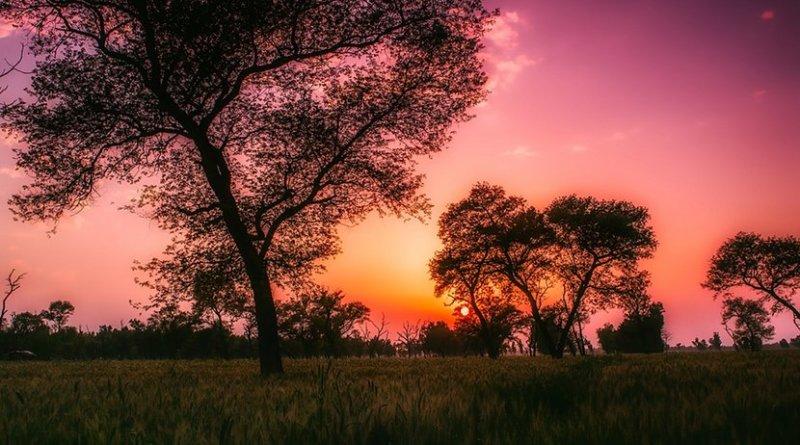 Sunset in Pakistan