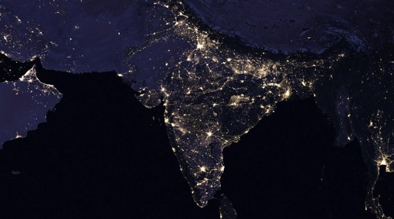 Satellite image of South Asia. Photo Credit: NASA