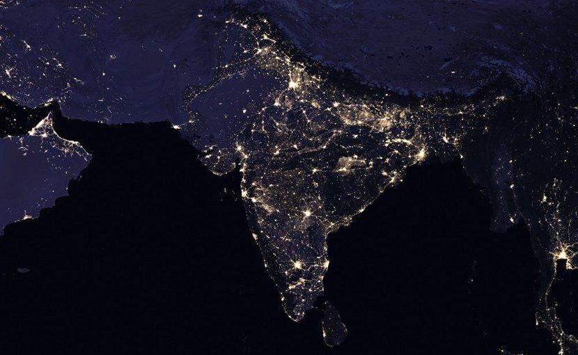 Satellite image of South Asia. Photo Credit: NASA