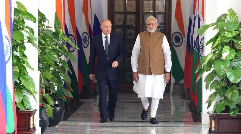 Russia's President Vladimir Putin with Prime Minister of India Narendra Mod. Photo Credit: Kremlin.ru