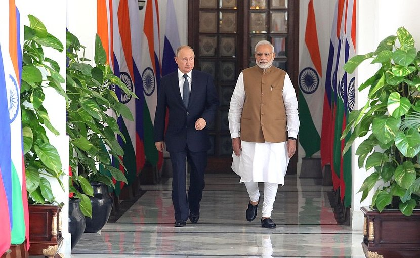 Russia's President Vladimir Putin with Prime Minister of India Narendra Mod. Photo Credit: Kremlin.ru