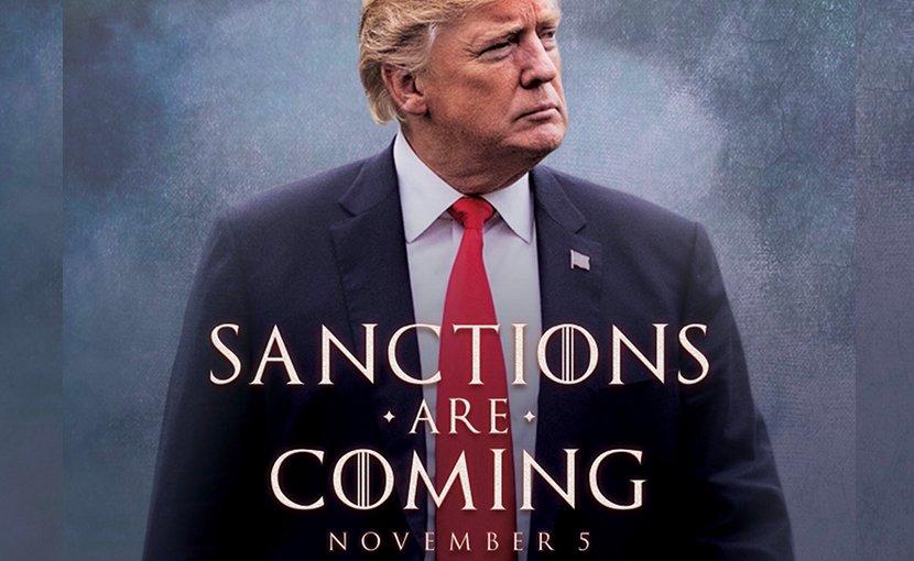 US President Donald Trump announces Iran sanctions. Photo Credit: https://twitter.com/realDonaldTrump