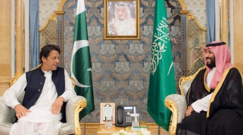 Pakistan's Imran Khan and Saudi Arabia's Crown Prince Mohammed bin Salman.