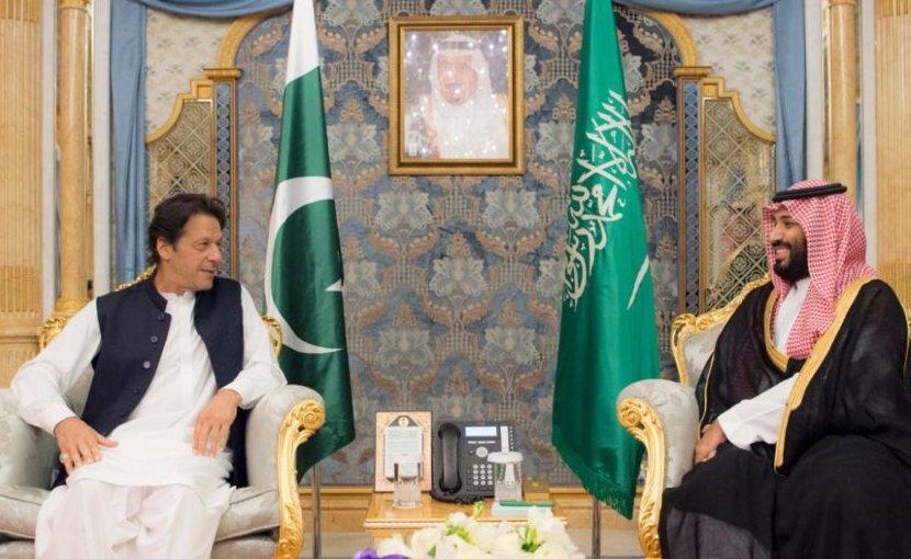 Pakistan's Imran Khan and Saudi Arabia's Crown Prince Mohammed bin Salman.