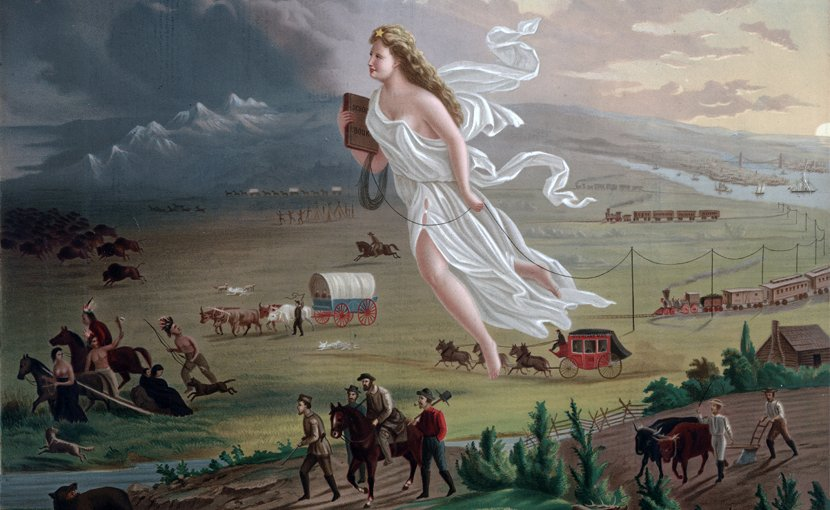 """American Progress"" and ""Manifest Destiny"" by John Gast, 1872"