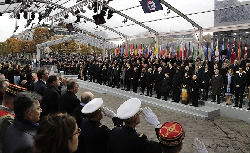 Commemorative ceremony marking the centenary of Armistice Day.. Photo Credit: Kremlin.ru