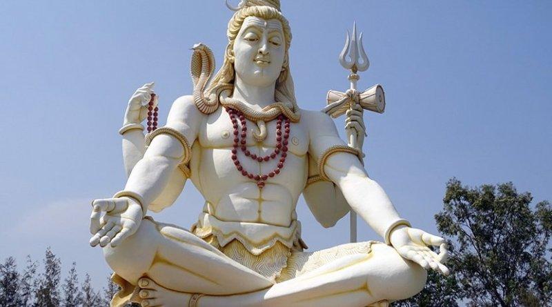 A Hindu statue of Lord Shiva in Bijapur, India.