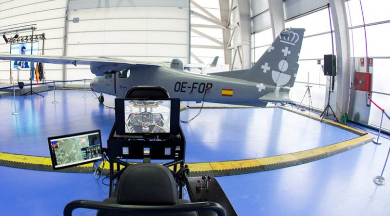 Indra Opcional Piloted Vehicle Aircraft Targus. Photo Credit: Indra