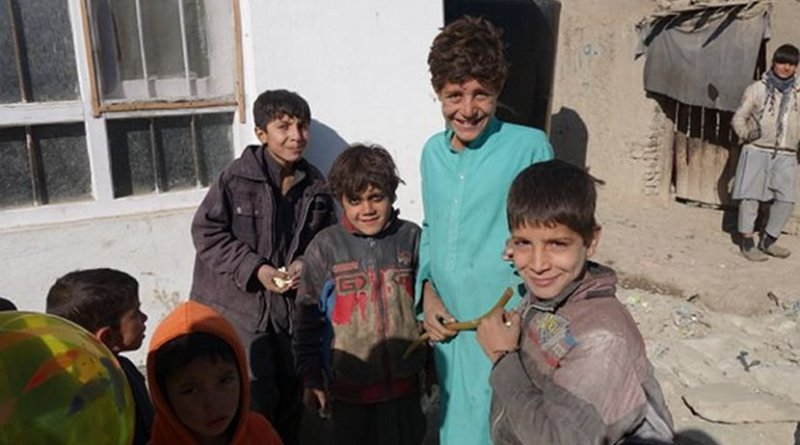 Children in refugee camp.