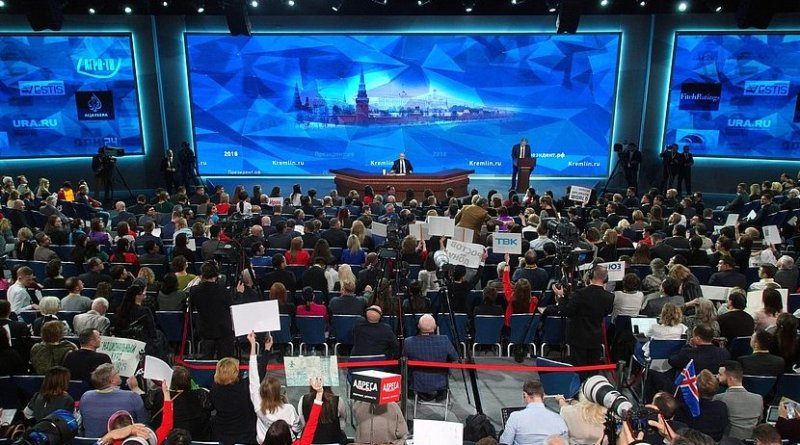 Russia's President Vladimir Putin at press conference. Photo Credit: Kremlin.ru