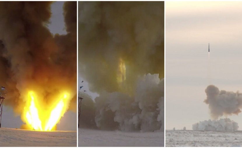 Test launch of Russia's newest hypersonic missile. Photo Credit: Russia's Defense Ministry