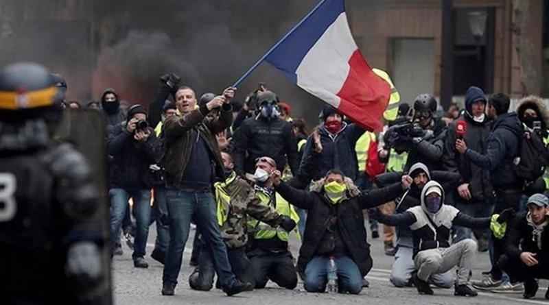 Yellow Vest protestors in France. Photo Credit: Tasnim News Agency