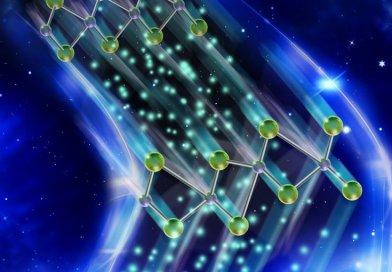 Researchers have discovered a new functionality in a two-dimensional material that allows data to be stored and retrieved much faster on a computer chip, saving battery life. Credit Purdue University illustration