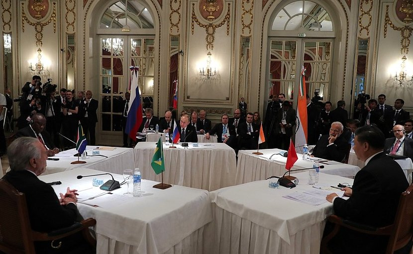 Vladimir Putin took part in a meeting of leaders of the BRICS member countries held on the sidelines of the G20 summit in Argentina. Photo Credit: Kremlin.ru