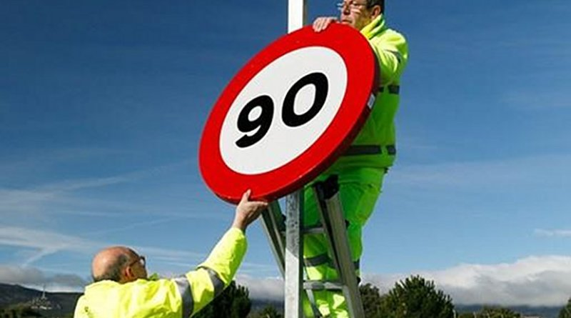 Spain lowers speed limits on many roads. Photo Credit: Ministerio de Fomento