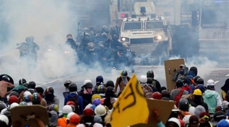 Protests in Venezuela. Photo Credit: Tasnim News Agency