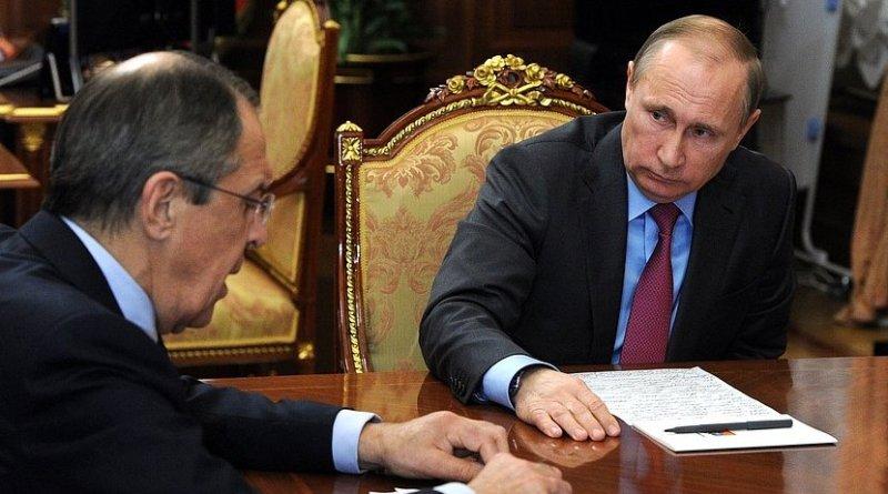 Russia's President Vladimir Putin and Foreign Minister Sergey Lavrov. Photo Credit: Kremlin.ru