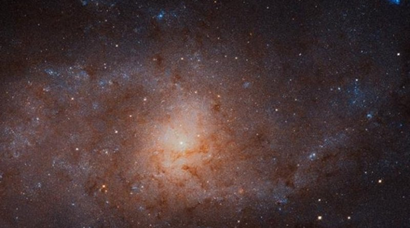 This gigantic image of the Triangulum Galaxy -- also known as Messier 33 -- is a composite of about 54 different pointings with Hubble's Advanced Camera for Surveys. With a staggering size of 34 372 times 19 345 pixels, it is the second-largest image ever released by Hubble. It is only dwarfed by the image of the Andromeda Galaxy, released in 2016. Credit NASA, ESA, and M. Durbin, J. Dalcanton, and B. F. Williams (University of Washington)