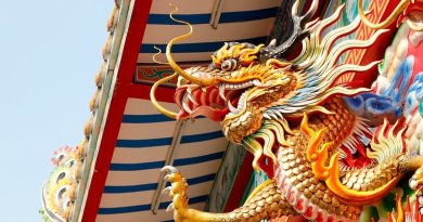 Thailand temple dragon