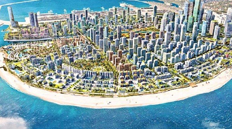 Artist's impression of Sri Lanka's Colombo Port City. Credit: Sri Lanka government