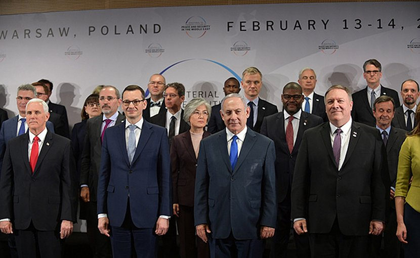U.S. Secretary of State Michael R. Pompeo participates in the Warsaw Summit in Warsaw, Poland on February 14, 2019 [State Department photo/ Public Domain]