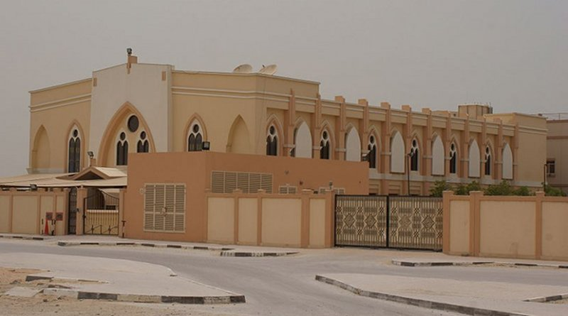 Catholic church in Dubai (Jebel Ali Village) without bell tower or cross. Photo Credit: Nepenthes, Wikipedia Commons.