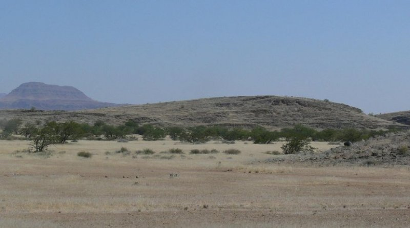 Drumlins, hills formed in places once covered by glaciers, were discovered in Namibia by WVU's Graham Andrews. Credit WVU