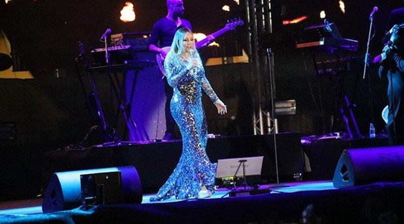 Mariah Carey performing at the Bay La Sun resort in King Abdullah Economic City, Saudi Arabia. Photo Credit: Arab News