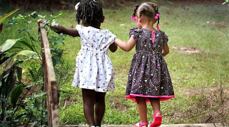 happy girls children