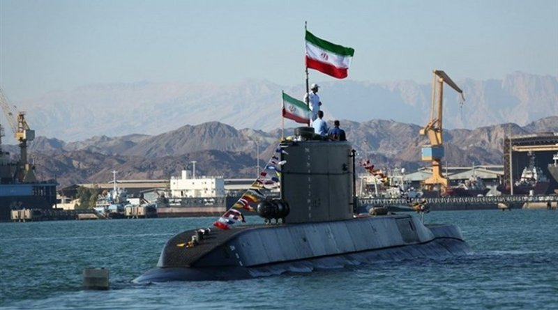 "Iran submarine dubbed ""Fateh (Conqueror)"". Photo Credit: Tasnim News Agency"