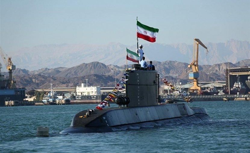 "Iran submarine dubbed ""Fateh (Conqueror)"". Photo Credit: Tasnim News Agency"