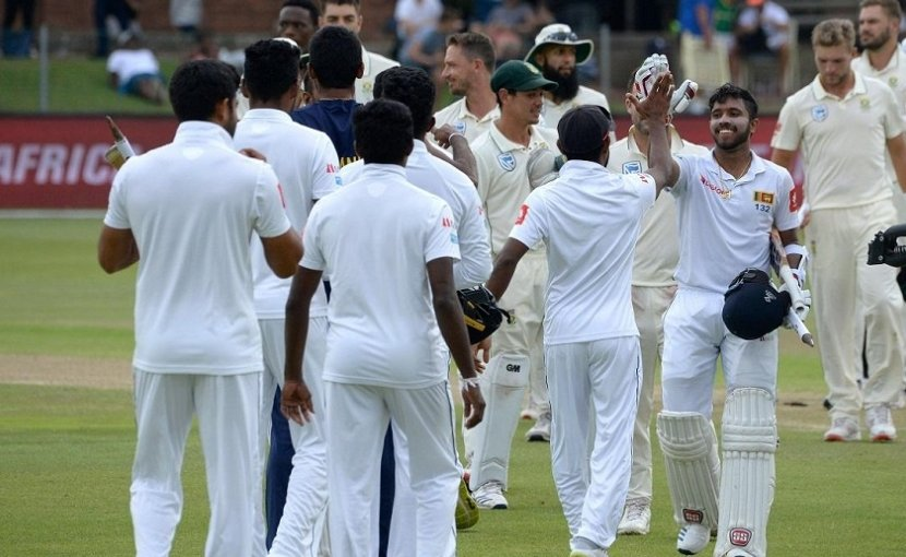 Sri Lanka cricket team. Photo Credit: Sri Lanka government
