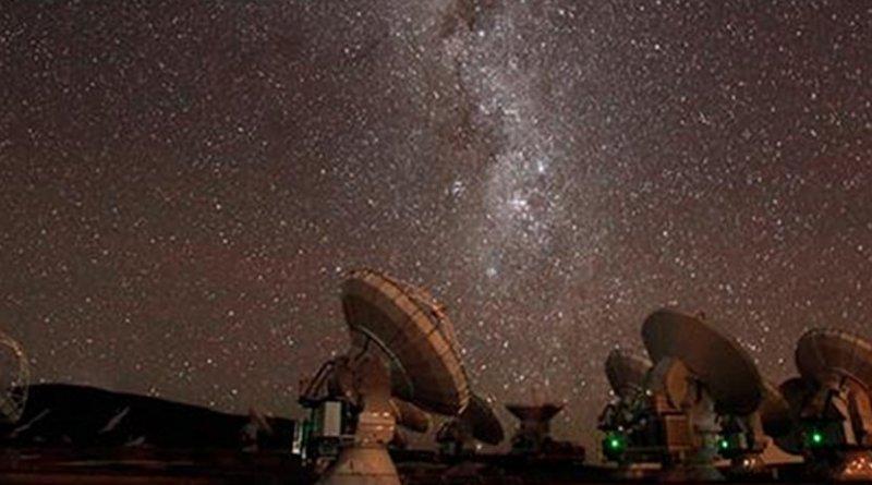 The ALMA observatory in Chile. Credit C. Padilla - ALMA (ESO/NAOJ/NRAO)