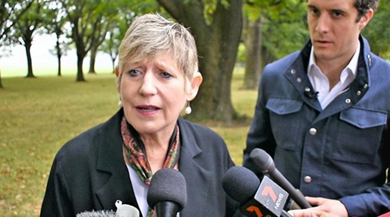 Christchurch Mayor Lianne Dalziel said the mosque attack was designed to divide and sow hatred. (AN photo by Jasmine Ng)
