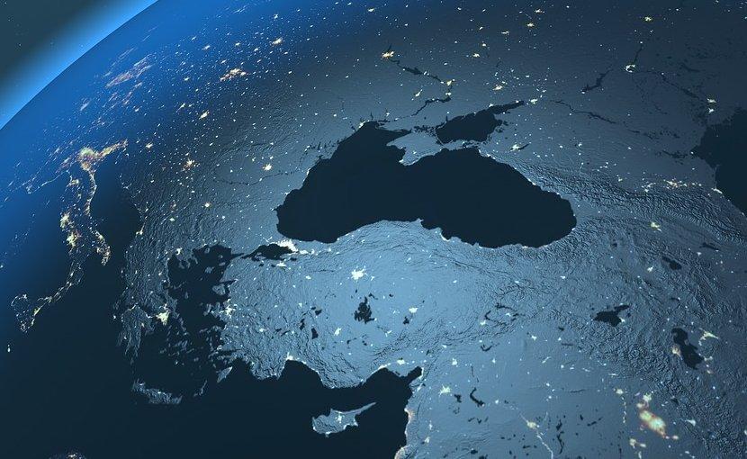turkey globe map
