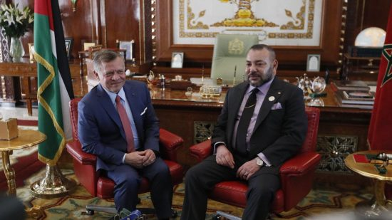 Jordan's King Abdullah II and Morocco's King Mohammed VI