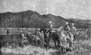 French Chasseurs d'Afrique on outpost in Tunis, 1881. Credit: Anonymous, Wikipedia Commons