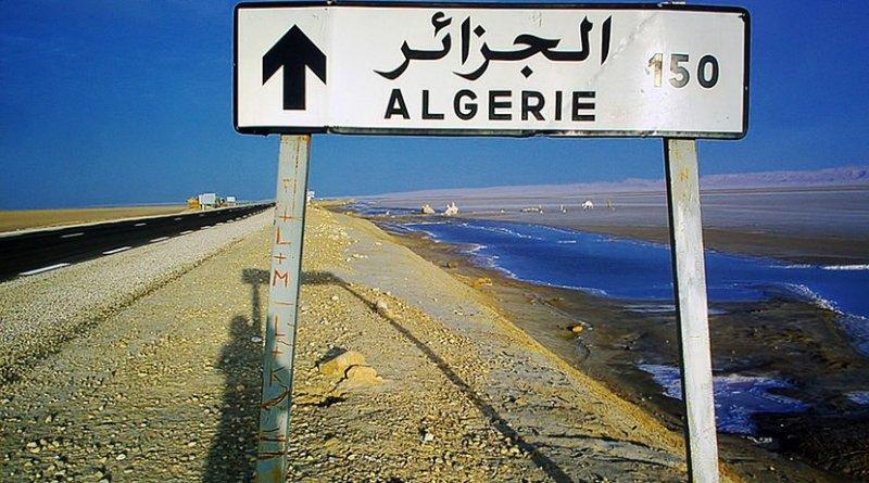 algeria signpost desert highway