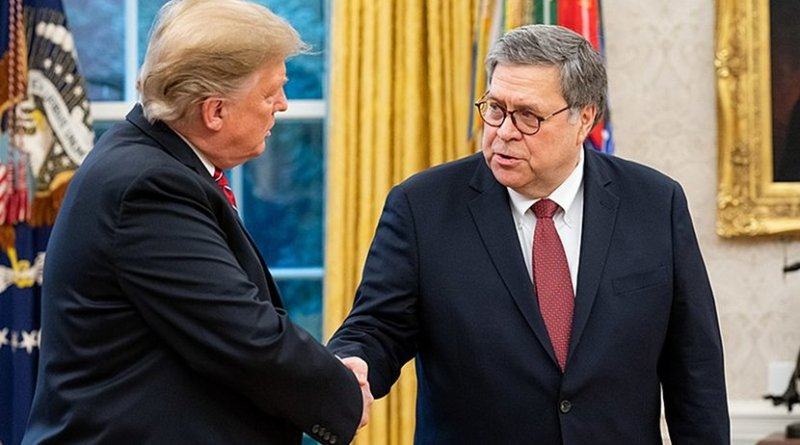 President Donald Trump and Attorney General William Barr. Photo Credit: The United States Department of Justice